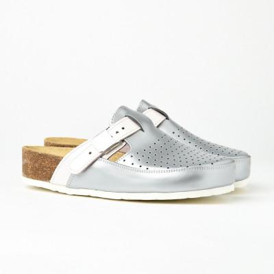 Kožne papuče 902 srebrne