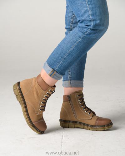 Kožne poluduboke cipele ALB301 bež