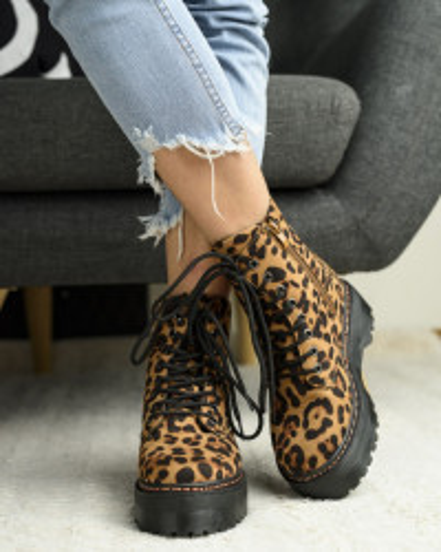 Martinke na debelom đonu LH095752 leopard print