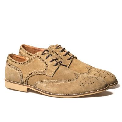 Muške cipele od prevrnute kože KB39-1 bež