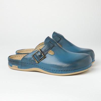 Muške kožne papuče/klompe 707 plave