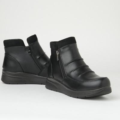 Poluduboke ženske čizme LH060563 crne