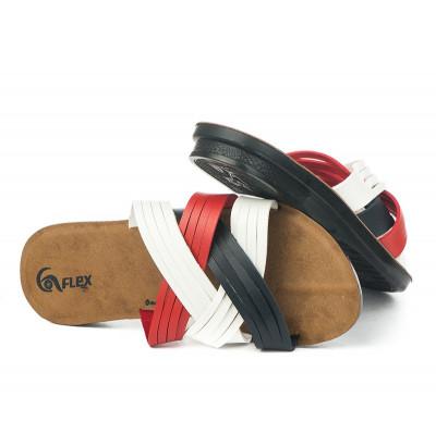 Ravne papuče 17793 crvene