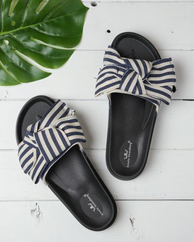 Ravne papuče A3 tamno teget