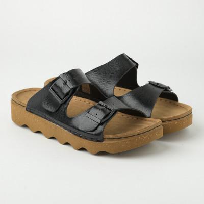 Ravne papuče DK000003 crne
