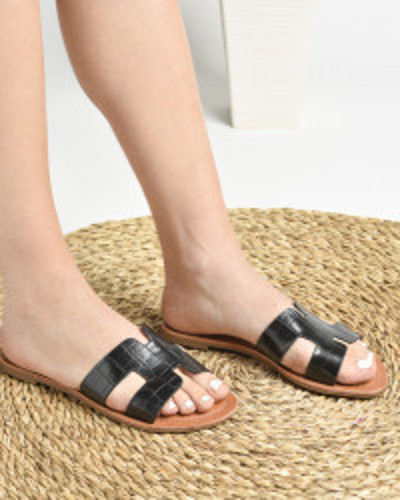 Ravne papuče P81 crne