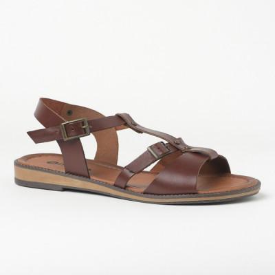 Ravne sandale 612 braon