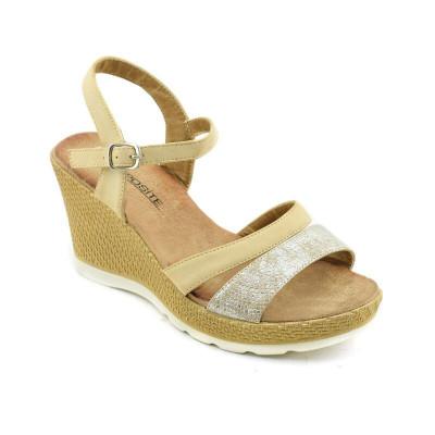 Sandale na ortoped petu LS020341 zlatne