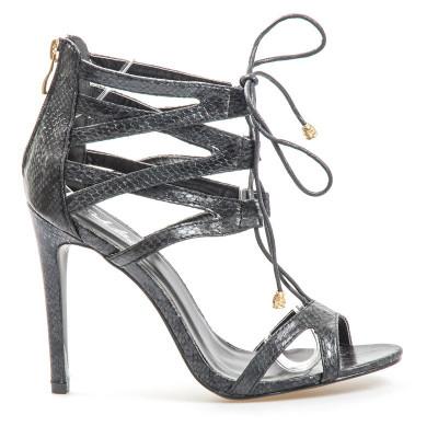 Sandale na štiklu LS0068 crne