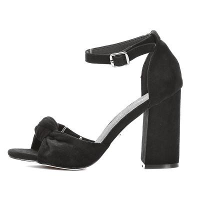 Sandale na štiklu LS241911 crne