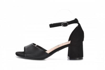 Sandale na štiklu LS242052 crne