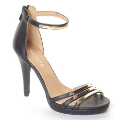 Sandale na štiklu LS55026 crne
