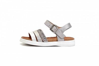 Sandale za devojčice CS271940 srebrne (brojevi od 31 do 36)