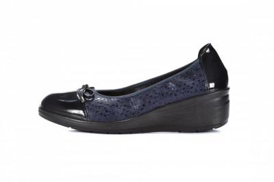 Ženske cipele na debelom djonu L082030 teget