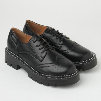Ženske cipele na debelom đonu CA703 crne