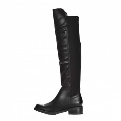 Ženske duboke ravne čizme LX562011 crne