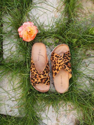 Ženske papuče 117 leopard dezen