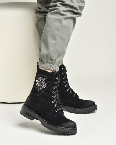 Ženske poluduboke čizme LH381949 crne