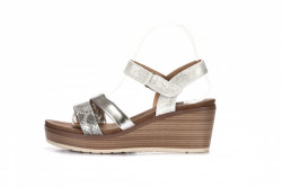 Ženske sandale na debelom djonu LS062018 srebrne