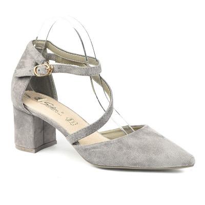 Cipele na malu štiklu LS241921 sive