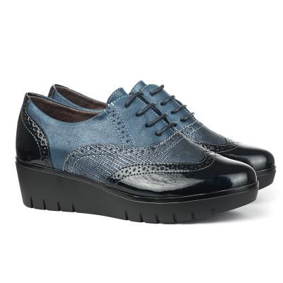 Cipele na pertlanje C1737 teget