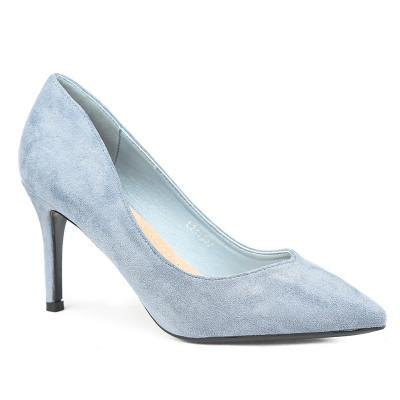 Cipele na štiklu L241927 svetlo plave