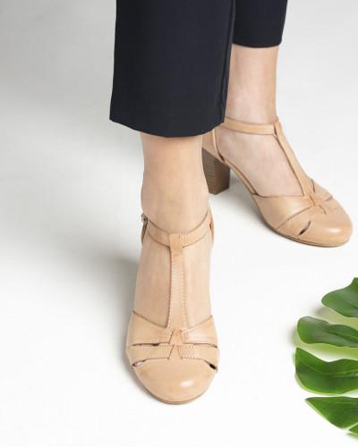 Cipele/sandale na štiklu S400 bež