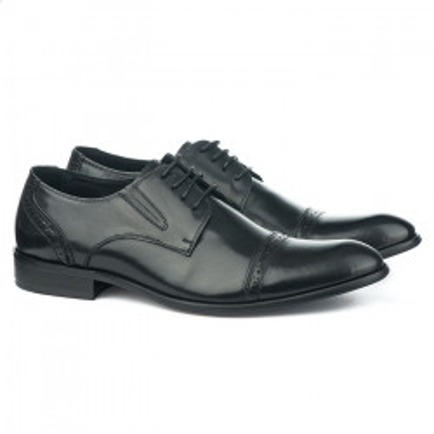 Kožne muške cipele 2-0818-3 crne