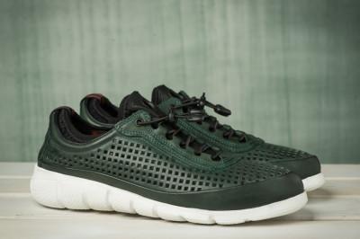 Kožne muške cipele / patike N40001 tamno zelene
