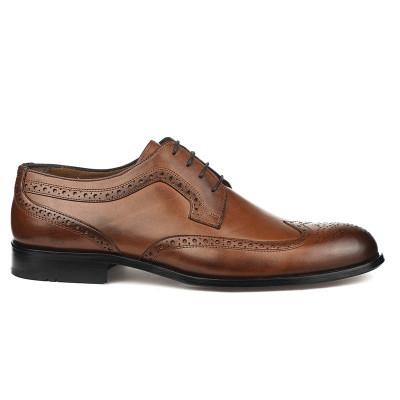 Kožne muške cipele sa kožnim đonom 837 braon