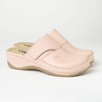 Kožne papuče/klompe 2019 puder roze