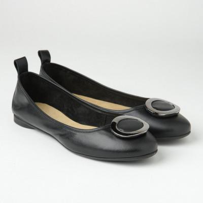 Kožne ženske baletanke BT2017 crne