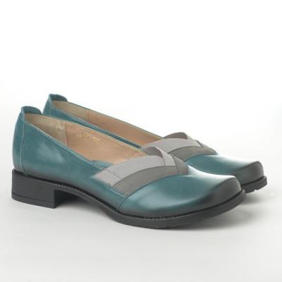 Kožne ženske cipele L-127/6 zelene