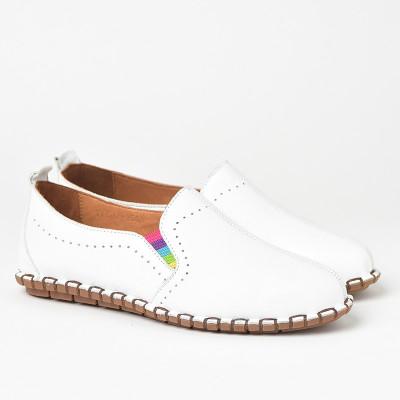 Lagane kožne cipele S19602 bela
