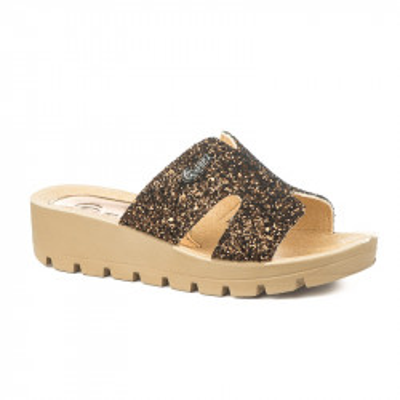 Papuče na debelom đonu 11501 bronzane
