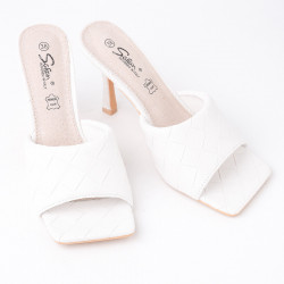 Papuče na štiklu LP242127 bele