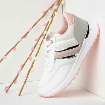 Plitke patike CA576 belo-roze