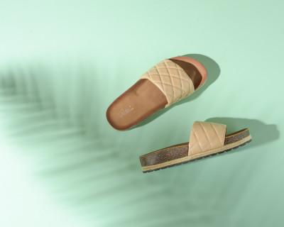 Ravne papuče na debelom đonu LP022109 bež