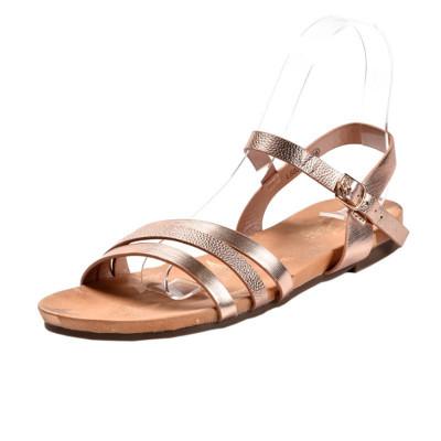 Ravne sandale LS02876 roze zlato