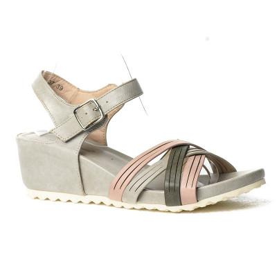 Sandale na ortoped petu F107 sivo roze