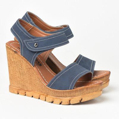 Sandale na platformu 1035 teget