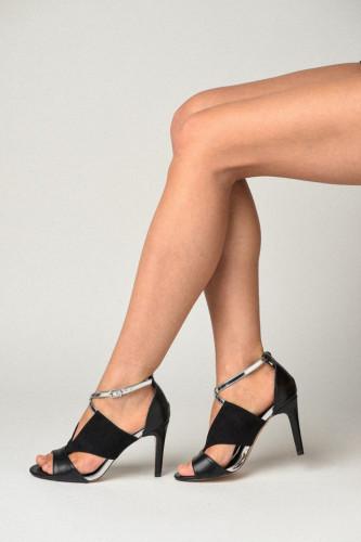 Sandale na štiklu 0149-A1 crne