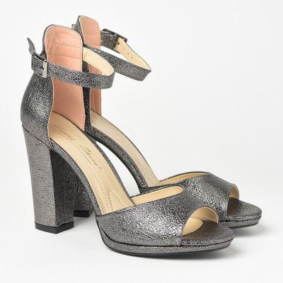 Sandale na štiklu 573 sive