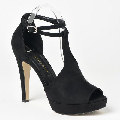 Sandale na štiklu 7541 crne