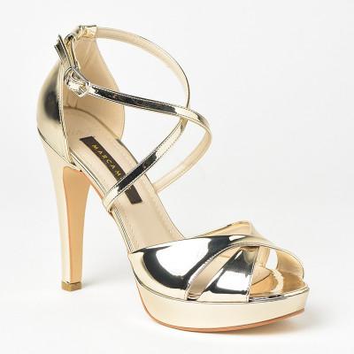 Sandale na štiklu 7559 zlatne