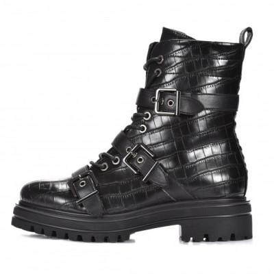 Ženske poluduboke čizme LH562012 crne kroko