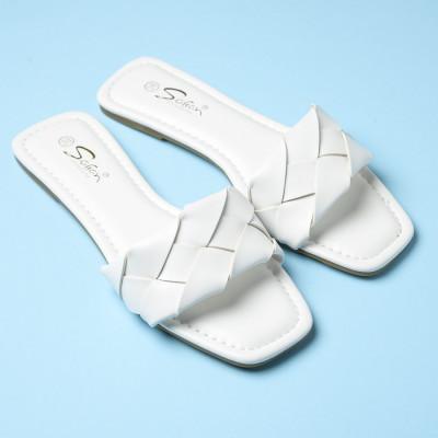Ženske ravne papuče LP022115 bele