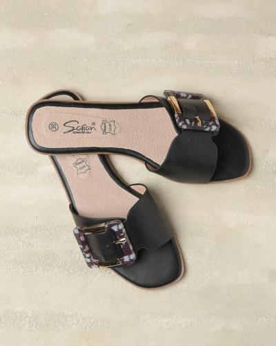 Ženske ravne papuče LP042105 crne