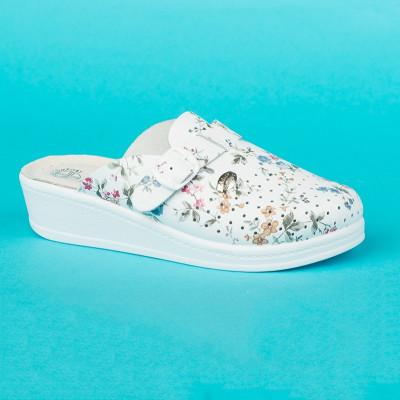Anatomske papuče MEDICAL 200 bela cvet
