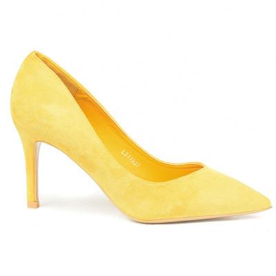 Cipele na štiklu L241927 žute